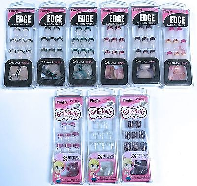 Fingrs Edge (Fing'rs EDGE Fashion Nails Or Girlie Petite Nails 24 Glue On Nails Your Choice)