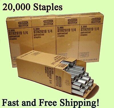 Stanley Bostitch Genuine Staples 1/4 STH2619 Galvanized for P6-6 stapling Plier