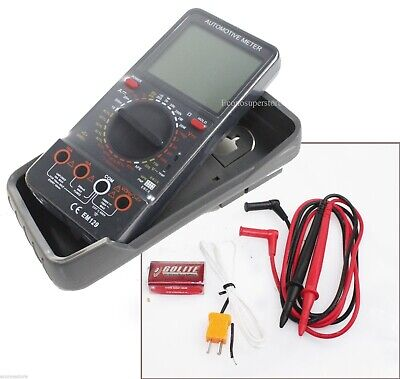 Digital Multimeter Lcd Acdc Ammeter Resistance Capacitance Automotive Meter
