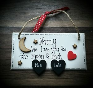 Personalised  Mum, Nanna, plaque - Mothers Day, Gift Wrapped
