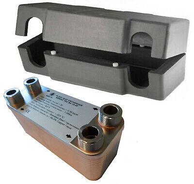 Edelstahl Wärmetauscher Plattenwärmetauscher NORDIC TEC 25-65kW mit ISOLIERUNG