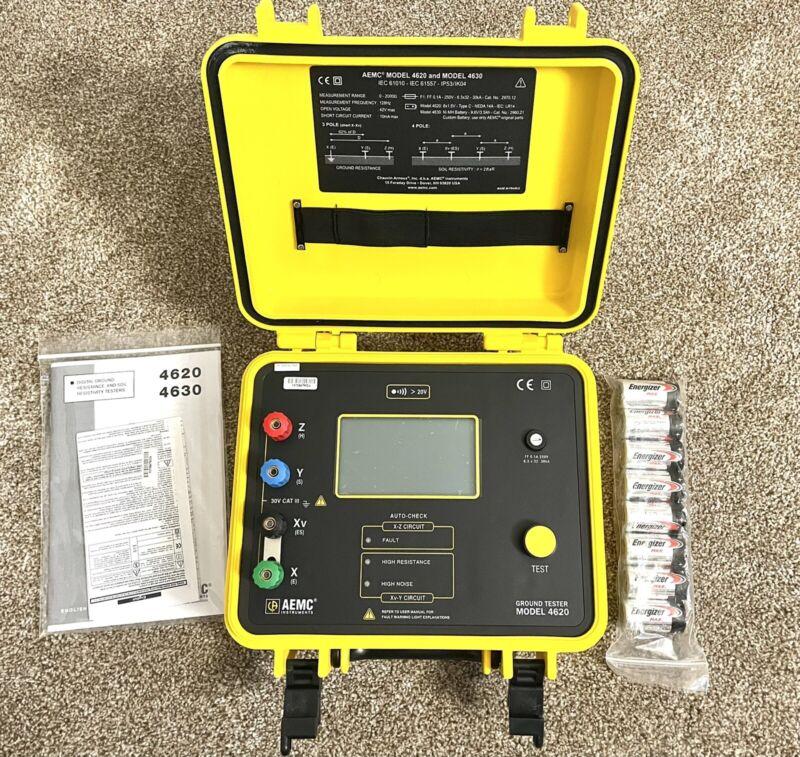 AEMC 4620 4-Point Digital Ground Resistance Tester, 2000 Ohms Resistance - NEW!