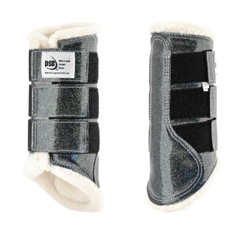 DSB The Glossy Dressage Sport Boot - Grey Glitter - Different Sizes