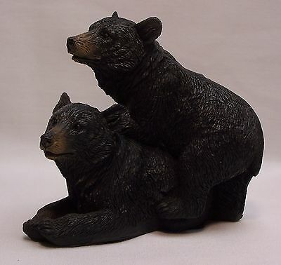 Black Bear Couple C Figurine Rustic Home/Cabin Decor (NAH)