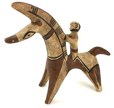 Ancient Warrior Primal Medieval Tang Dynasty Ceramic Votive Horse Statue Ceramic