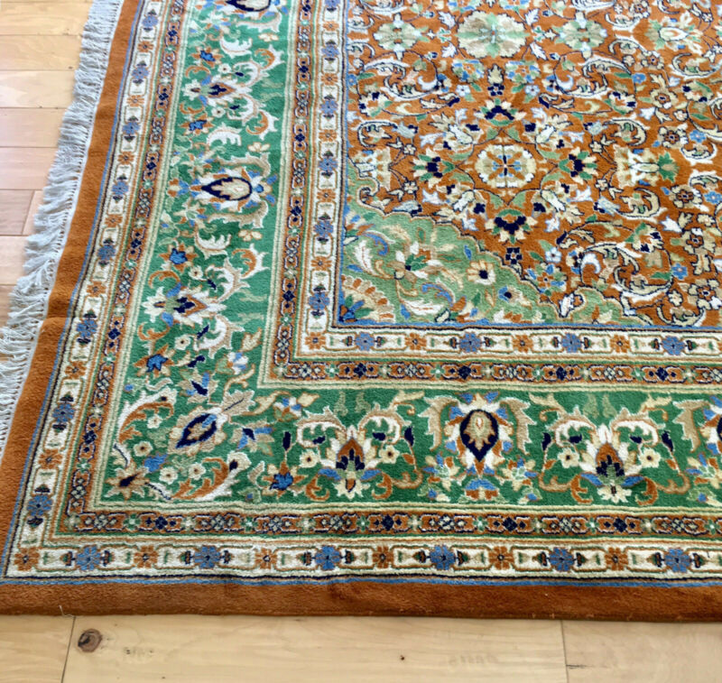 Oriental Rug Hand Woven, Indian, Approx. 12 X 20
