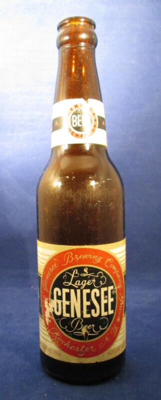 Genesee Lager Beer Rochester, NY EMPTY 12 oz Bottle 1950