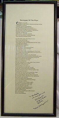 William Everson PROLOGUE: AT THE EDGE Broadside Poem 1952 Trial Printing SIGNED
