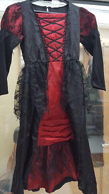 Schwarzes Kleid Für Halloween-kostüme (Mädchen Kleid in 128 für Fasching Halloween