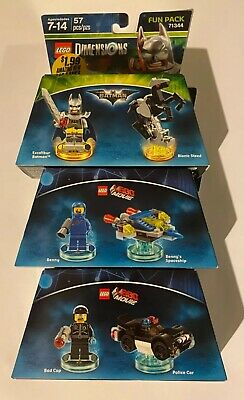 Lot of 3 Lego Dimensions Fun Packs
