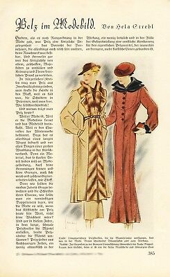 Fur in fashion XL 1934 German report 8 pages 8 images 30s women fashion +