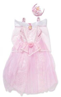 Disney Sleeping Beauty Princess Aurora Costume & Tiara Dress Up Age 7/8 Years ()