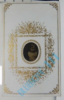 1860's CDV Gem Tintype Child J.J E Well Wilton Chambers Market Street Manchester
