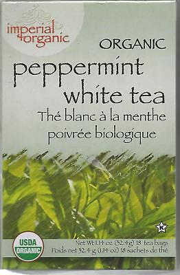 Organic Peppermint White Tea, Imperial Organic, 18 tea -