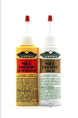 WILD GROWTH HAIR CARE SYSTEM 4 oz HAIR OIL'S Detangler &/or Extender Hair Care System