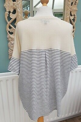 J Crew Wool And Linen Top Striped size 12 to 14