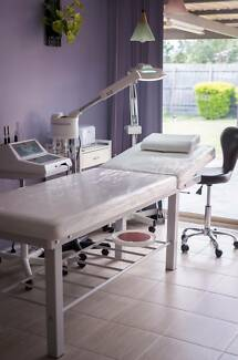Beauty Salon Furniture and Equipment: Massage Bed, Chair, Lamp