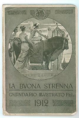 LA BUONA STRENNA CALENDARIO ILLUSTRATO PEL 1912 TIP. S.A.I.D. BUONA STAMPA