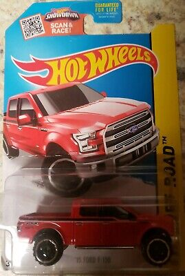 HOT WHEELS 2015 HW OFF-ROAD 15 FORD F-150 RED VHTF