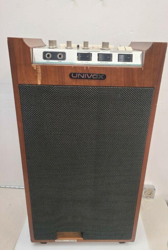 UNIVOX DE-20/SRA-75 Vintage Drum Machine/Guitar Amplifier Works Perfect!