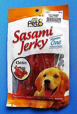 BEST Snack DOG Food Healthy Pet Premium Number 1 Chicken Jerky Sliced