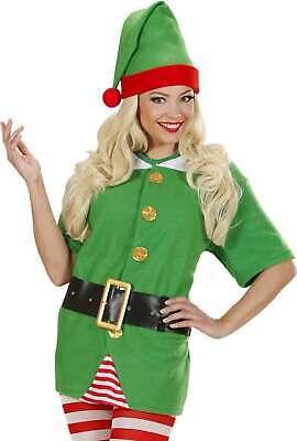 LADIES SANTAS LITTLE HELPER ELF- (SHIRT BELT HAT) CHRISTMAS