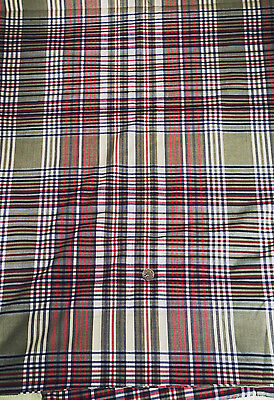 -  Cotton Voile Fabric Plaid  Apparel Weight Smooth Hand Green   Bfab