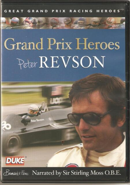 GRAND PRIX HEROES PETER REVSON DVD - NARRATED BY SIR STIRLING MOSS O.B.E.