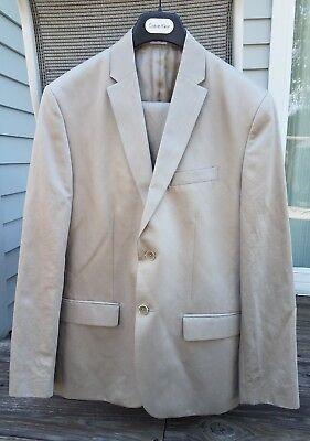 - NWOT Men's Calvin Klein Suit Medium Tan Single Breasted 2 Piece 2 Button $299