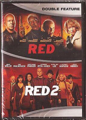 Red 1   2   Dvd Bruce Willis Morgan Freeman Helen Mirren Brand New