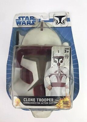 Star Wars Clone Trooper Commander Fox Action Suit, Size 4 to 10, Jumpsuit & Mask
