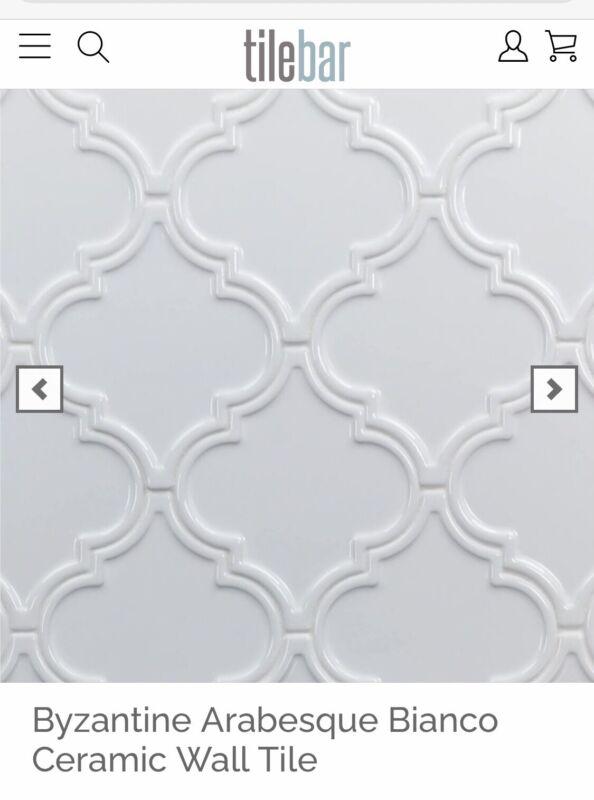 NEW Arabesque Ceramic Wall Tile - 5 Full Boxes
