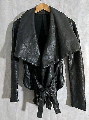 Gareth Pugh Wrap Coated Jacket Sweater Size Small