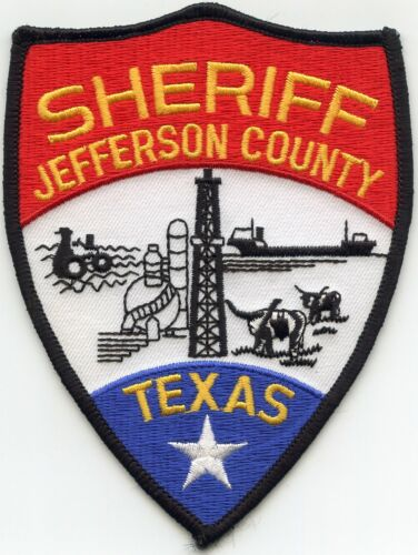 JEFFERSON COUNTY TEXAS TX colorful SHERIFF POLICE PATCH