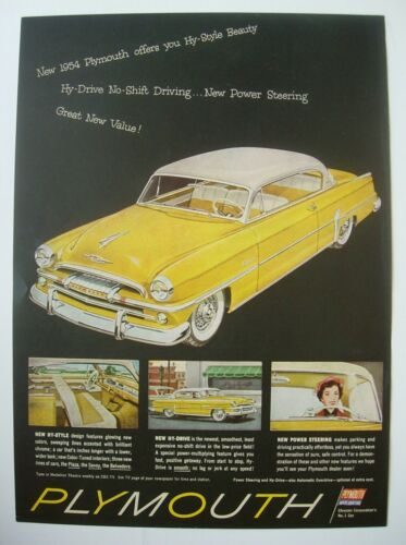 Lot of two pages:  1954 Plymouth magazine ads