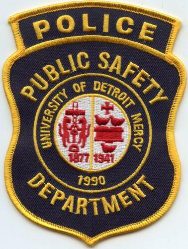UNIVERSITY OF DETROIT MERCY MICHIGAN MI CAMPUS POLICE PATCH