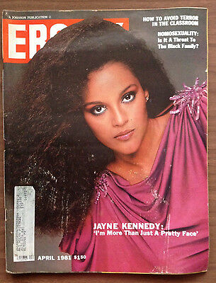Ebony Magazine. April '81, JAYNE KENNEDY