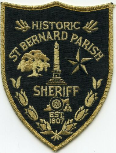 SAINT ST BERNARD PARISH LOUISIANA Gold Border SHERIFF POLICE PATCH