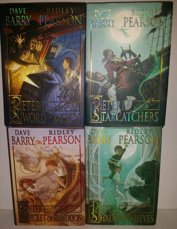 Peter and the Starcatchers Series 1-4 set Shadow Thieves, Rundoon, Sword PB lot
