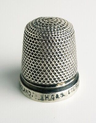 Antique Sterling Silver Thimble Henry Griffiths & Son Birmingham (size 16)