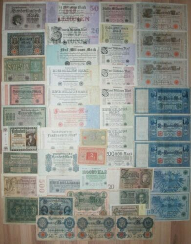 LOT OF 45 Germany banknotes
