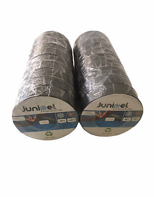 20 Rolls 66 Ft All Purpose 0.7 Inch Vinyl Pvc Black Insulated Electrical Tape