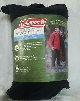 New in Package: Unisex Coleman Nylon Pants Size: XL; Color: Black