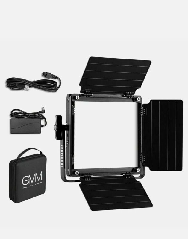 GVM 800D GVM800D RGB LED PORTABLE LIGHT WITH BARNDOORS FOR 4K HD VIDEO CAMERA