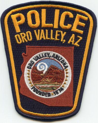 ORO VALLEY ARIZONA AZ Orange Letters POLICE PATCH