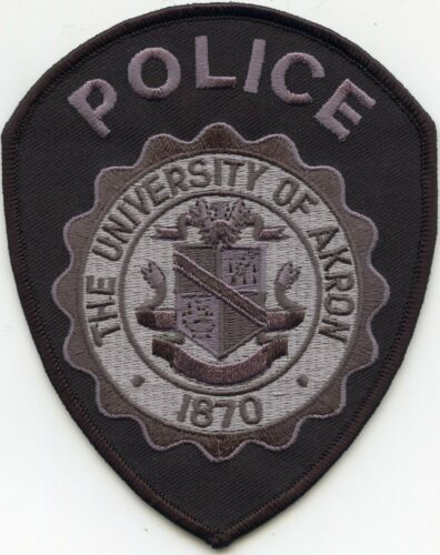 THE UNIVERSITY OF AKRON OHIO OH subdued CAMPUS POLICE PATCH
