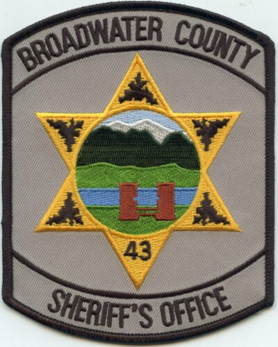 BROADWATER COUNTY MONTANA MT Gray Background SHERIFF POLICE PATCH