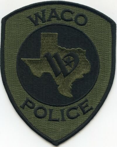 WACO TEXAS TX subdued green POLICE PATCH