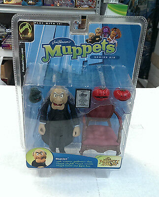 Jim Henson's Muppets Series 6 - STATLER - Figure w/ Accessories Palisades 2003  - Muppets Accessories