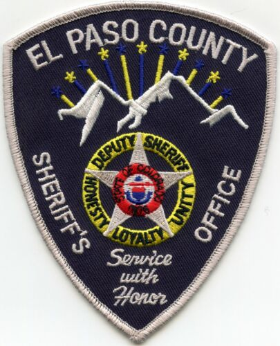 EL PASO COUNTY COLORADO CO Service With Honor DEPUTY SHERIFF POLICE PATCH